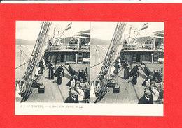 LE TONKIN Cpa Stéréoscopique Animée A Bord D ' Un Navire         9 LL - Viêt-Nam