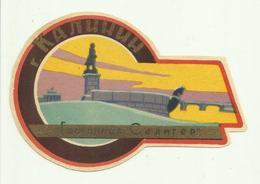 Vintage Luggage Label - Hotel Gostilnica Selinger Kalinin - Tower Russia Key - Hotel Labels