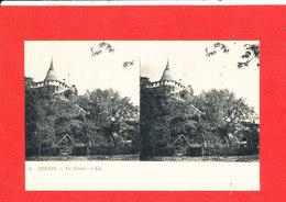 TONKIN  Cpa Stéréoscopique Un Temple       3 LL - Viêt-Nam