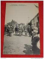 HUISSIGNIES  - CHIEVRES  -  Fête Patriotique - L'Accord Franco-Belge, Groupe De Jeunes Filles   - - Chièvres