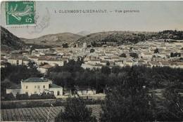CLERMONT L'HERAULT : Vue Générale Avec Gare Et Train En Premier Plan- (1910?) - Clermont L'Hérault