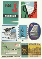 Vintage Luggage Label - Hotel Lot 7 Different From More Traveled - Hotel Labels