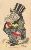 Politique, Affaires, ... Illustrateur Assus, Fallières Avec écharpe D'élu Et Décorations, Légion D'Honneur.... - Satira