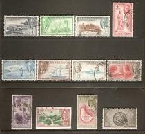 BARBADOS 1950 SET SG 271/282 FINE USED Cat £75 - Barbados (...-1966)