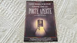 Film Porte Aperte Gianni Amelio Gian Maria Volonte Leonardo Sciascia - Manifesti Su Carta