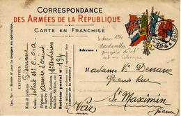 ARMEE D'ORIENT - 1915- C P F M   Corps Expéditionnaire  S P 2 Cercles  194  - 1ère Division Du C.E.O - Storia Postale