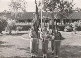 Photo - Militaire : II / 22é Régiment D'infanterie Coloniale ( R.i.c. ) à Baria Viet Nam - Tintin Porte Drapeau - - War, Military