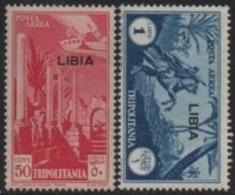 Italian Colonies-Italiennes (LIBIA) 1936 Italian/Tripolitania Stamps/Timbres Poste Aérienne (Overprinted/Surchargés) ** - Libië