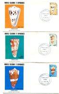 Nouvelle Calédonie - FDC Yvert 481 à 483 Coquillages - X 1043 - FDC