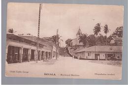 CAMEROUN Kamerun Douala - Boulevard Maritime Ca 1920 OLD POSTCARD - Cameroon