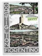 Toscana-arezzo-castiglion Fiorentino  Vedute Vedutine Castiglion Fiorentino Anni 50 - Italia