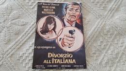 Film Divorzio All'Italiana Pietro Gremi Marcello Mastroianni Daniela Rocca Stefania Sandrelli - Manifesti Su Carta