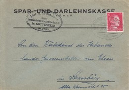 Env Affr Michel 827 Obl STRASSBURG (ELS) - SAARBURG (WESTM) Du 02.11.42 Adressée à Strassburg - Spoorwegpost