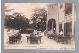 CAMEROUN Kamerun Douala -La Terrasse Du Grand Hotel Ca 1920 OLD POSTCARD - Cameroon