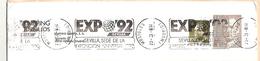 E-ESP 002 - MADRID Mostoles - Oblitération Séville Expo 92 - Marcofilia - EMA ( Maquina De Huellas A Franquear)