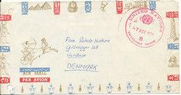 Denmark Air Mail Cover UN DANOR BN UNEF Emergency Force Egypt 7-11-1966 - Denmark