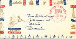 Denmark Air Mail Cover UN DANOR BN UNEF Emergency Force Egypt 30-11-1966 - Denmark