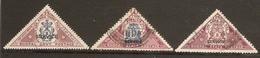 INDIA - BHOPAL 1935 - 1939 OFFICIALS SET SG O330/O332 FINE USED Cat £7 - Bhopal