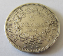 France - Monnaie 5 Francs Hercule 1849 A - France