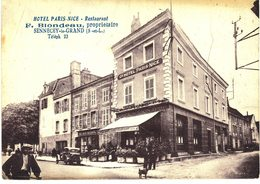 Carte Postale Ancienne De SENNECEY Le GRAND - Hotel PARIS NICE, Propriétaire F.BLONDEAU - Francia