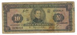 El Salvador 10 Colones 1962, VG/F. - El Salvador