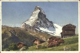 61153713 Zermatt VS Stadel Bei Winkelmatten Matterhorn /  /Bz. Visp - VS Valais