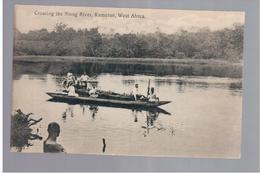 CAMEROUN Kamerun Crossing The Nlong River Ca 1920 OLD POSTCARD - Cameroon