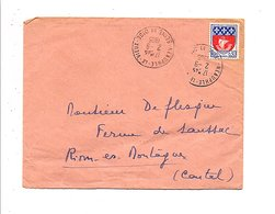 OBLITERATION DE NEAUPHLE LE VIEUX SEINE ET OISE 1965 - Marcophilie (Lettres)