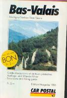 SUISSE – BAS-VALAIS « Guide D'excursions Et De Tours Pédestres » - Cartes