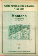 SUISSE – MOTANA Carte Nationale Suisse 1 :50000 Avec Itinéraire Des Randonnées - Cartes Topographiques