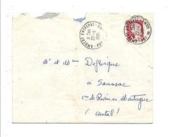 OBLITERATION DE AMBERT ENTREPOT PUY DE DOME 1961 - Marcofilie (Brieven)