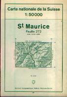 SUISSE – SAINT MAURICE Carte Nationale Suisse 1 :50000 Avec Itinéraire Des Randonnées - Cartes Topographiques