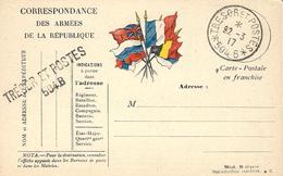 ARMEE D'ORIENT -  C P F M Préoblitérée 1 Cercle Du SP 504-B- Noir  -mission Militaire Française De L'Armée Serbe - Storia Postale