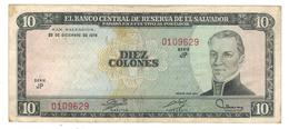 El Salvador 10 Colones 1976, VF/XF. - Salvador
