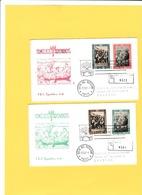 Vaticano 1963 -  2 FDC  Capitolium-V 21 Viaggiate Racc.e Numerate  -  Campagna Mondiale Contro La Fame - Against Starve