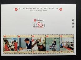 MALTESER ORDEN BLOCK POSTFRISCH 50 JAHRE MALTESER HILSDIENST 2003 - Malta (Orden Von)