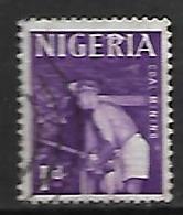 NIGERIA   -  Série Courante.  Mineur De Fond ,  Oblitéré. - Nigeria (1961-...)