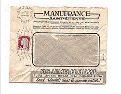 LETTRE A EN TETE MANUFRANCE DE SAINT ETIENNE MANUFACTURE 1960 - Marcophilie (Lettres)