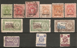 INDIA - BHOPAL 1930 ONWARDS COLLECTION OF ALL DIFFERENT FINE USED OFFICIALS STAMPS Cat £10+ - Bhopal