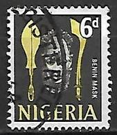 NIGERIA   -  Série Courante.  Masque / Sagaie ,  Oblitéré. - Nigeria (1961-...)