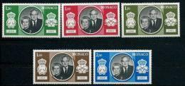 """Monaco YT 1265 à  1269 """" 25e Anniversaire Du Mariage Princier """" 1981 Neuf** - Monaco"""