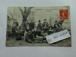JEMMAPES - AZZABA - RARISSIME CARTE INEDITE LES ANCIENS ARTILLEURS SAPEURS FAISANT LA BOMBE 1909 Scan Resto Verso - Skikda (Philippeville)