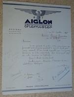 Facture Ancienne - Courrier - 1941 - à L'aiglon - Chemisier - Béziers - Signé - France