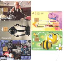 Obj10- Lot 5 Télécartes - Thème Cinéma, Téléphone, Egypte, Abeille, - Télécartes