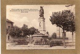 CPA - FONTAINE-les-LUXEUIL (70) - Aspect Du Monument Aux Morts En 1923 - Frankreich