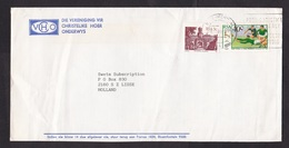 South Africa: Cover To Netherlands, 1989, 2 Stamps, Rugby Match New Zealand, Sports (minor Damage) - Zuid-Afrika (1961-...)