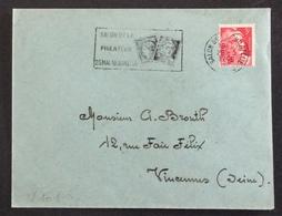 V101 Salon De La Philatélie Paris 25/5-10/6/1946 Marianne Gandon 29/5/1946 - 1921-1960: Modern Period