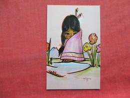 Signed Artist Morning Blossom Ref 3281 - Indiens De L'Amerique Du Nord