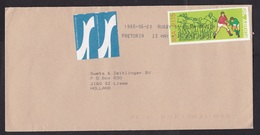 South Africa: Airmail Cover To Netherlands, 1995, 1 Stamp, Rugby, Sports, 2x Air Label (traces Of Use) - Zuid-Afrika (1961-...)