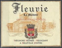 Etiquette De Vin De France * Fleurie - La Madone * - Etiquettes